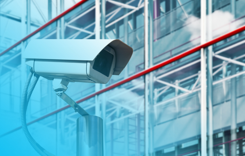 Security Camera that's part of an integrated security system