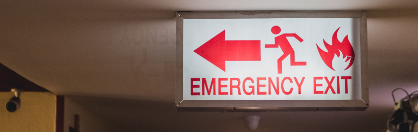 Fire Protection Services - Emergency Exit sign