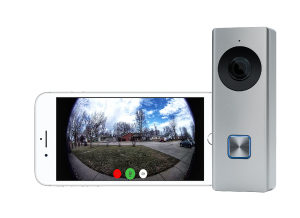 The doorbell camera will automatically send a notification to your cell phone and let you know someone is at the door