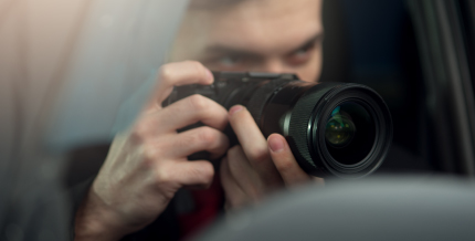 Burglars could be taking pictures of your home so they can analyze entry points and items they have spotted such as a car
