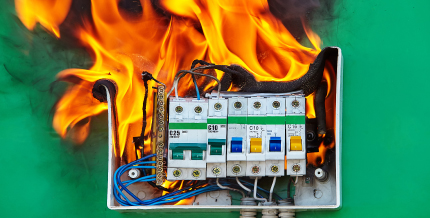 Faulty Electrical Equipment Causing a Fire