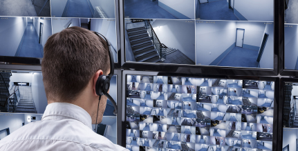 Monitoring multiple security camera feeds
